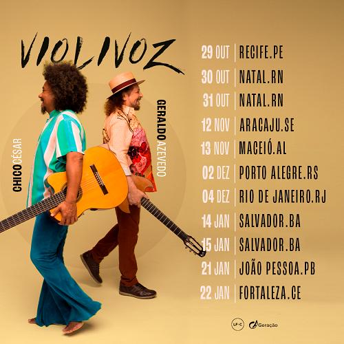 Turnê Violivoz - Chico César e Geraldo Azevedo